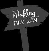 Wedding sign illustration