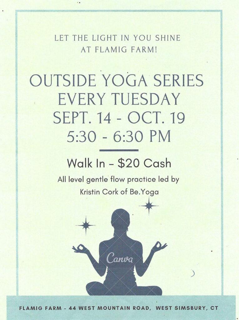 Yoga Outside Series at Flamig Farm